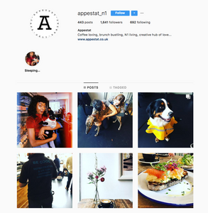 Appestat N1 Instagram, London best coffeeshop to work from for freelancers, We Are F Blog