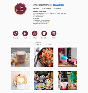 39 steps coffee haus Instagram, London best coffeeshop to work from for freelancers, We Are F Blog