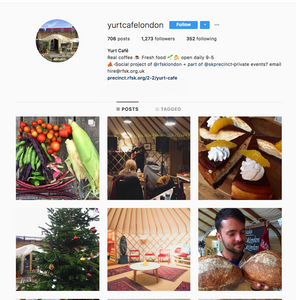 Yurt Cafè Instagram, London best coffeeshop to work from for freelancers, We Are F Blog