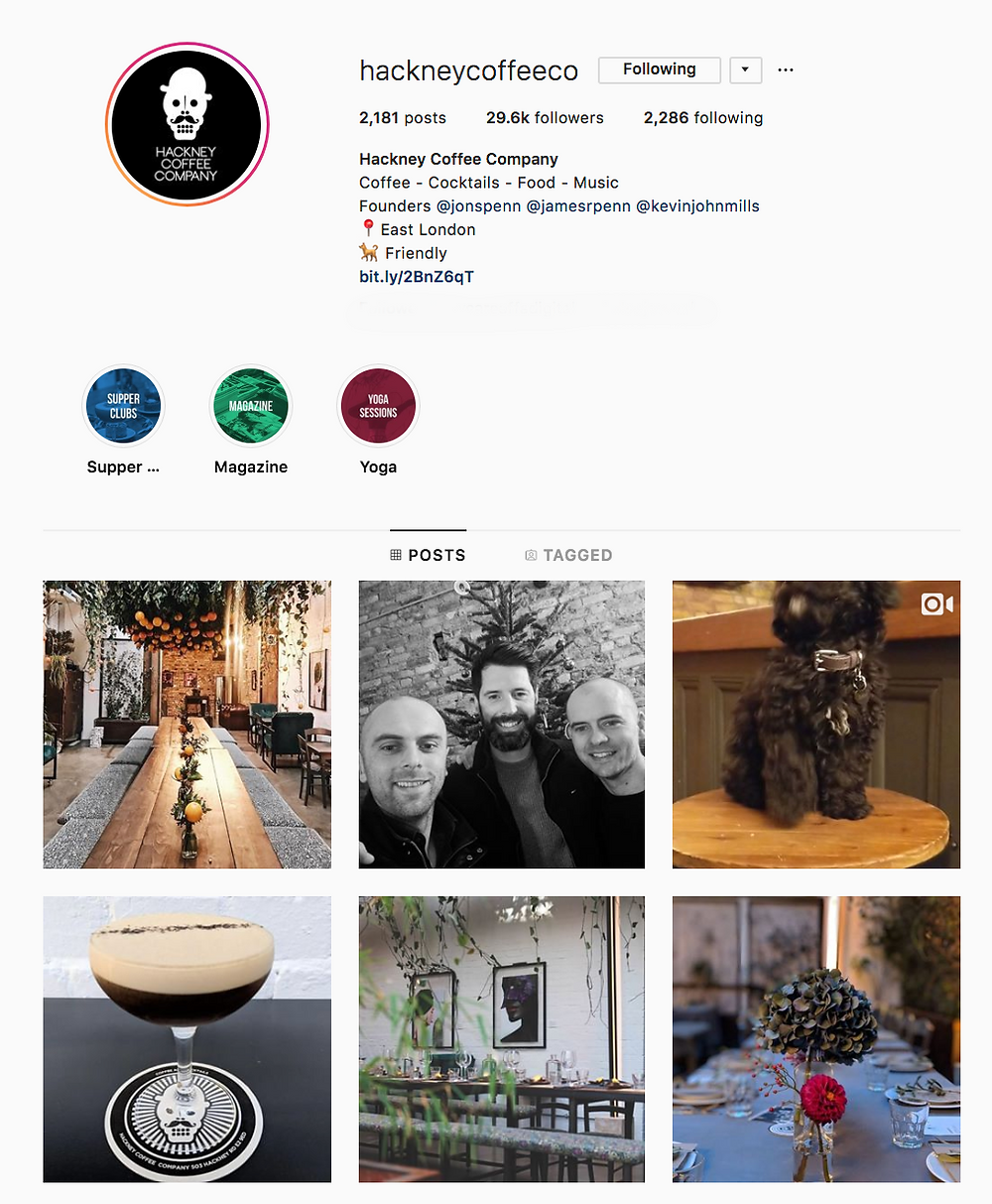 Hackney Coffee Co Instagram, London best coffeeshop to work from for freelancers, We Are F Blog