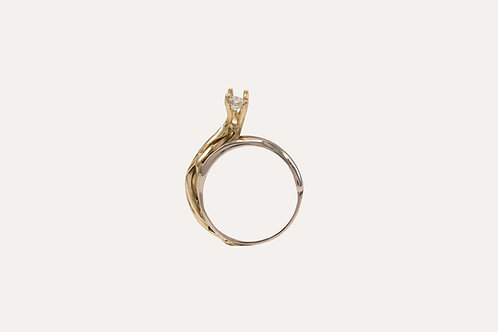 Shell Diamond Ring