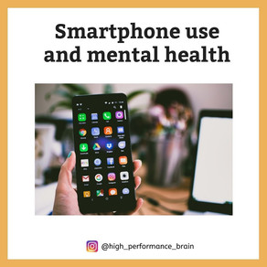 Smartphone use and mental health