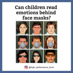 Can children read emotions behind face masks?