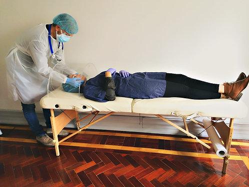 Proteção para marquesa contra aerossóis