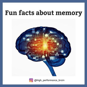 Fun facts about memory