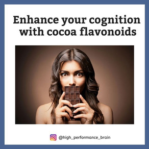 Enhance your cognition with cocoa flavonoids