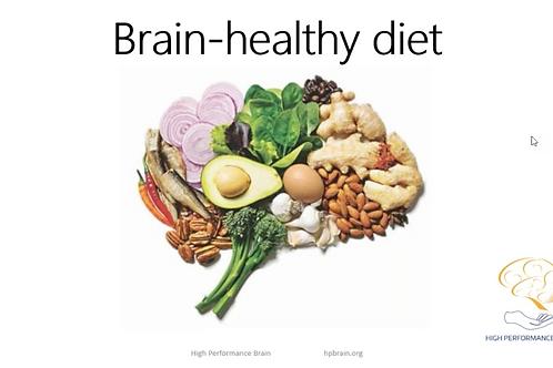 Brain healthy diet