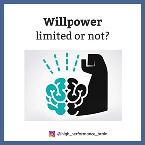 Willpower limited or not?