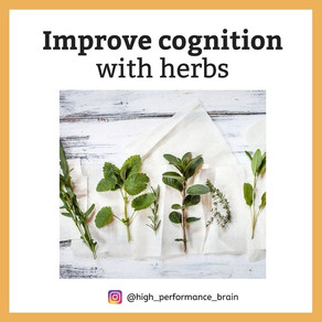 Improve cognition with herbs