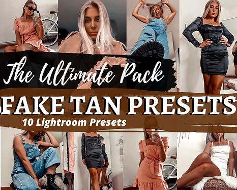 The ULTIMATE PACK 10 Fake Tan Instagram Preset for Adobe Lightroom app