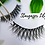 Thumbnail: Eco Friendly Cotton FALSE LASHES No Plastic REUSABLE (15+ Wears)  STARGAZER LILY