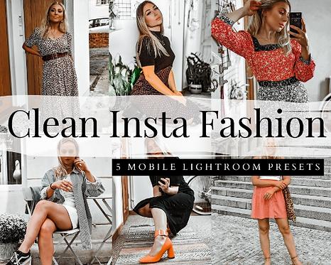 5 Lightroom MOBILE Presets, Clean FASHION Blogger Presets