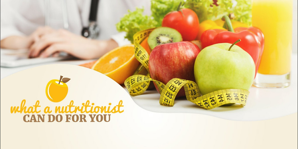 What A Nutritionist Can Do For You (In-Person & Live on Facebook)