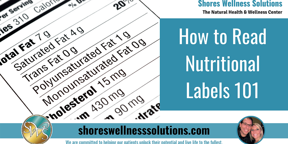 (MI) How to Read Nutritional Labels 101