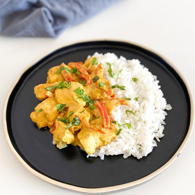 poulet curry sauce soja