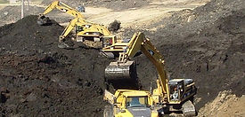 backhoes excavating