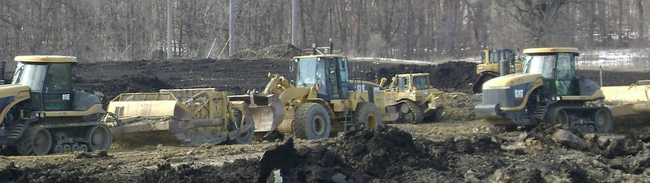 grader loader and dozer doing earthwork