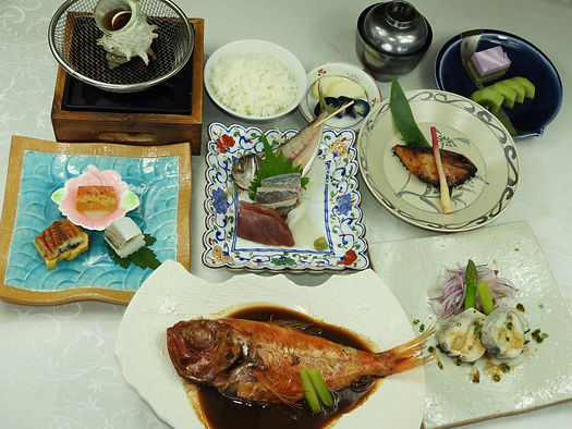 夕食金目鯛の料理.JPG