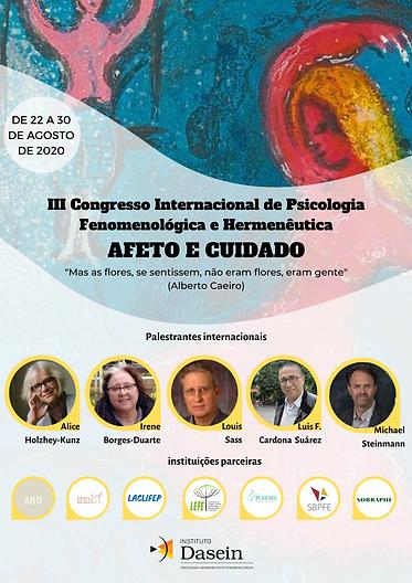 Pôster do Congresso com os palestrantes internacionais