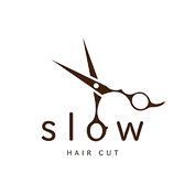 hair cut slow ロゴ