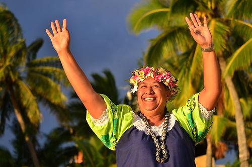 Portrait of happy active senior Polynesi