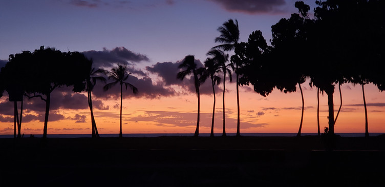 Ma'ili Beach at sunset, Wai'anae, Hawai'i