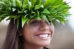 Pretty Hula Girl wearing a handmade Poly