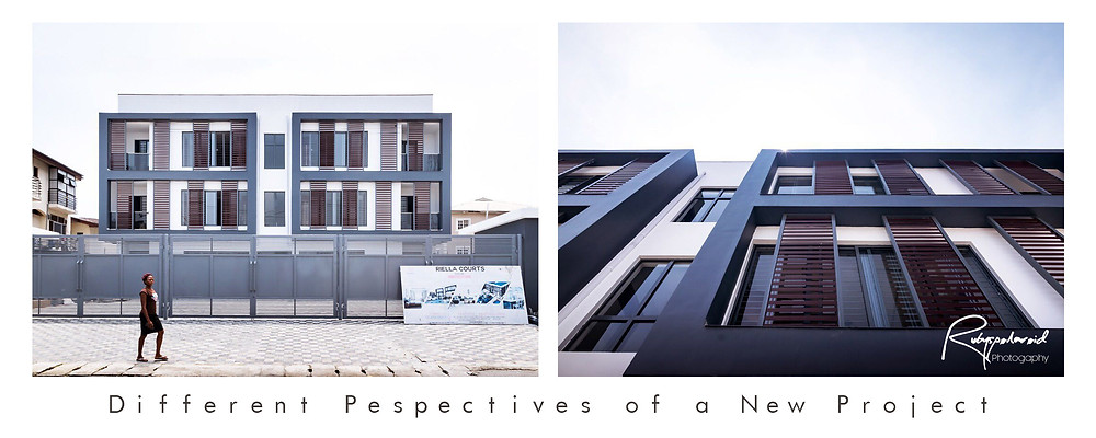 Different exterior views of a Lekki Residential Project taken by Rubyspolaroid Photography