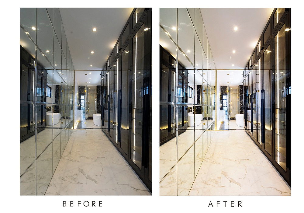 Walk-in Closet Before and After taken by Rubyspolaroid photography