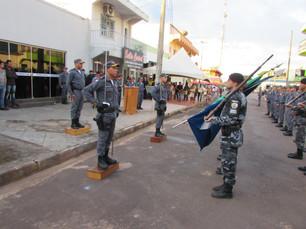 Troca de comando da Policia Militar é realizada em Juína