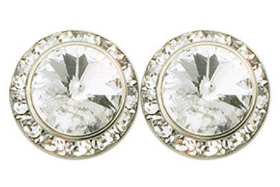 Performance Earrings - 15mm - Crystal, Pierced