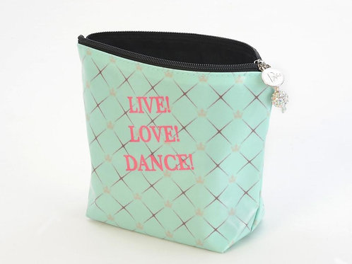 Large Cosmetic Bag - Live! Love! Dance!