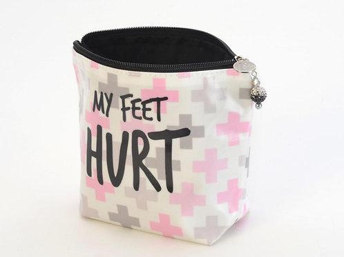Large Cosmetic Bag - My Feet Hurt