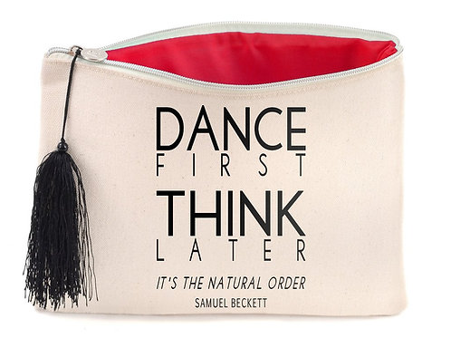 Canvas Cosmetic Bag - Samuel Beckett Quote