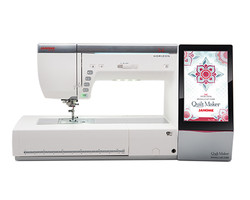 Janome made the first full featured sewing machine and embroidery unit complete in one unit and stil