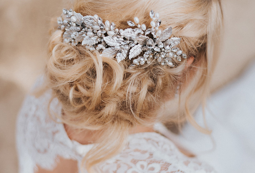"""Bailey"" Large Bridal Hair Comb"