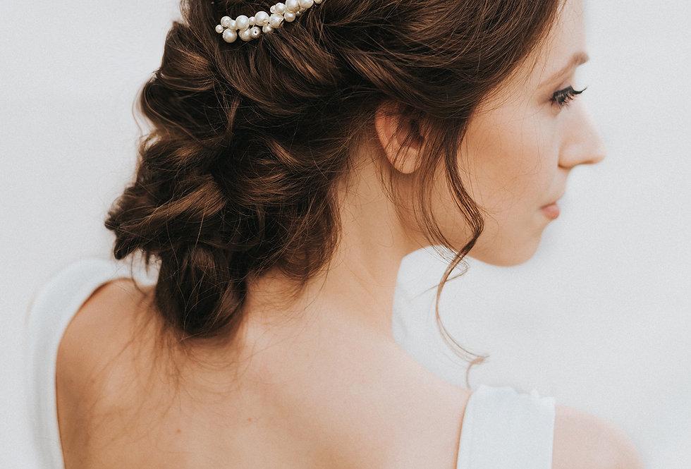"""Lustre"" Pearl Bridal Hair Comb"