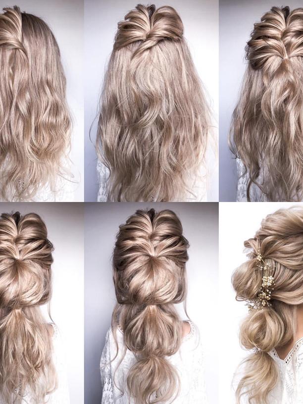 Romantic Boho Bridal Hair