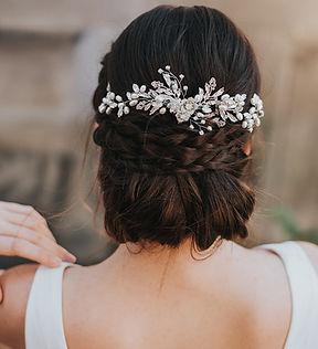 Abigail Beaded Flower Bridal Hair Vine 1