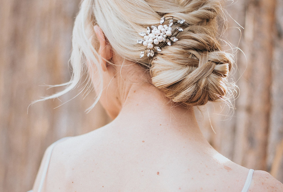 """Lela"" Small Bridal Hair Comb"