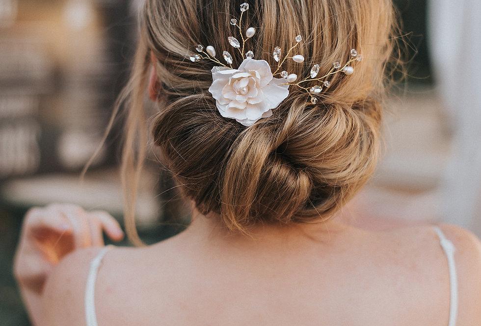 """""""Bethany"""" Bridal Hair Flower"""