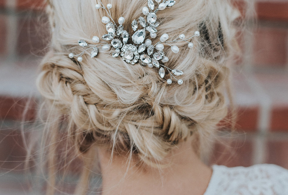 """Carmen"" Medium Bridal Hair Comb"