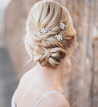 Lela Pearl Rhinestone Beaded Bridal Hair