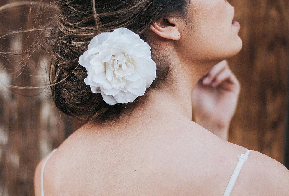 """Gentry"" Camellia Bridal Hair Flower"