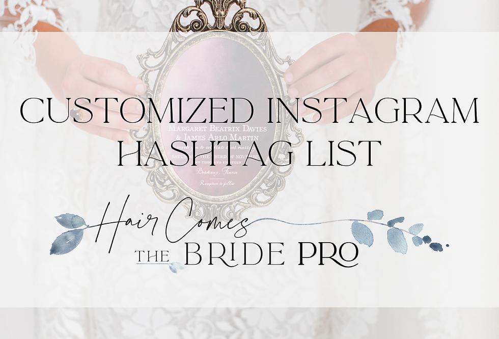 Customized Instagram Hashtag List