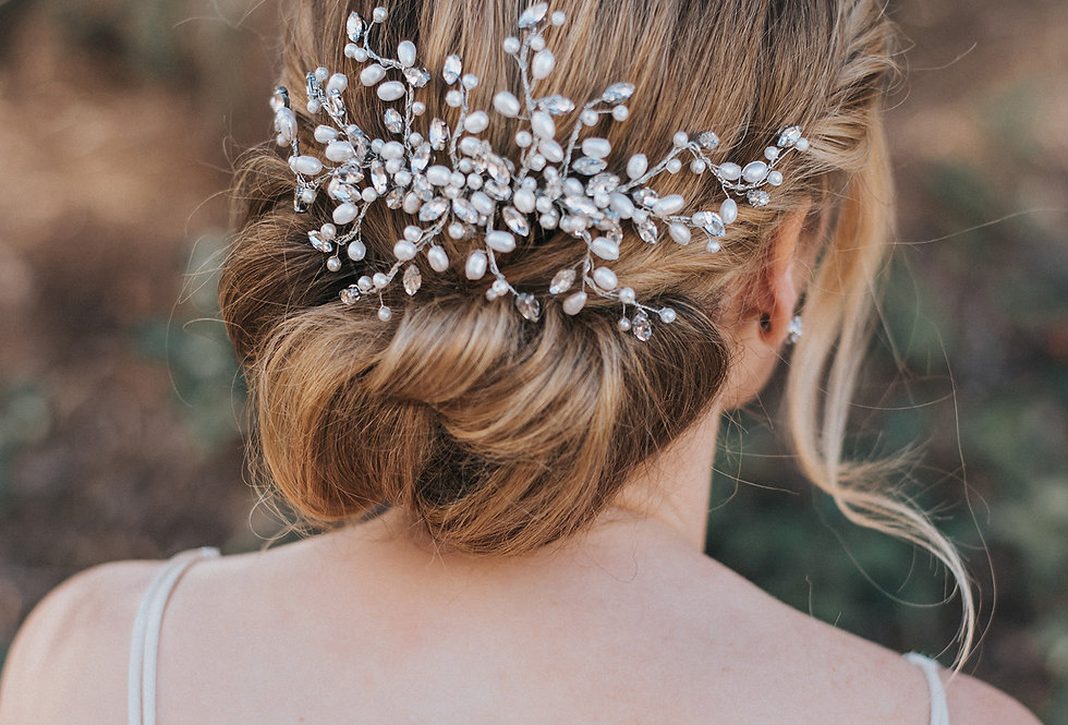 """Gwen"" Large Bridal Hair Comb"