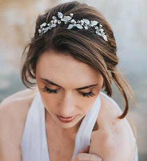 Ariana Leaf Bridal Comb as Headband.jpg