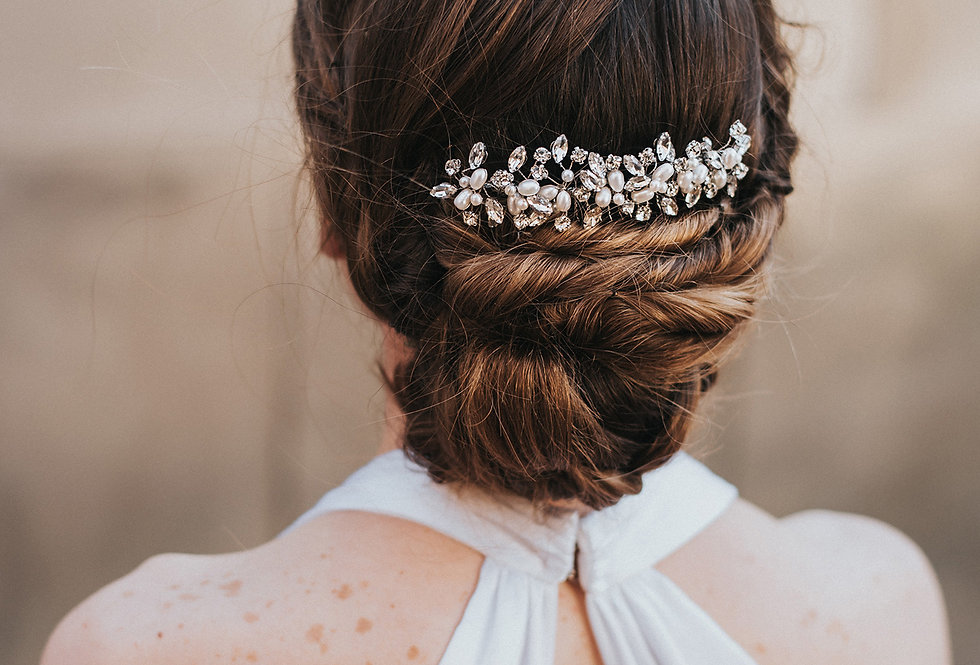 """Brooklyn"" Bridal Hair Comb"
