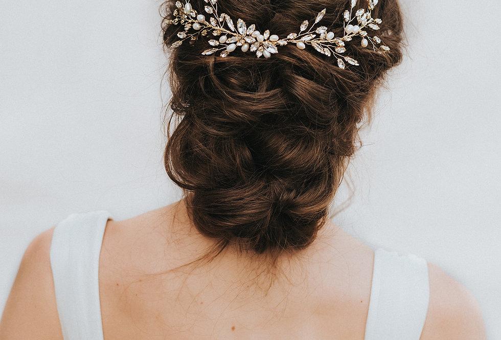 """""""Nyla"""" Bridal Hair Vine"""