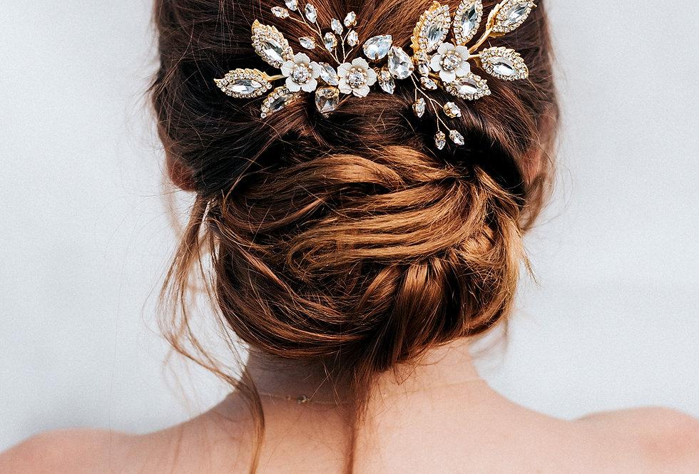 """Kimber"" Large Bridal Hair Comb"